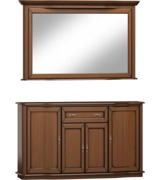 Fala zrkadlo L3D + komoda 4D1S - Meble Wanat