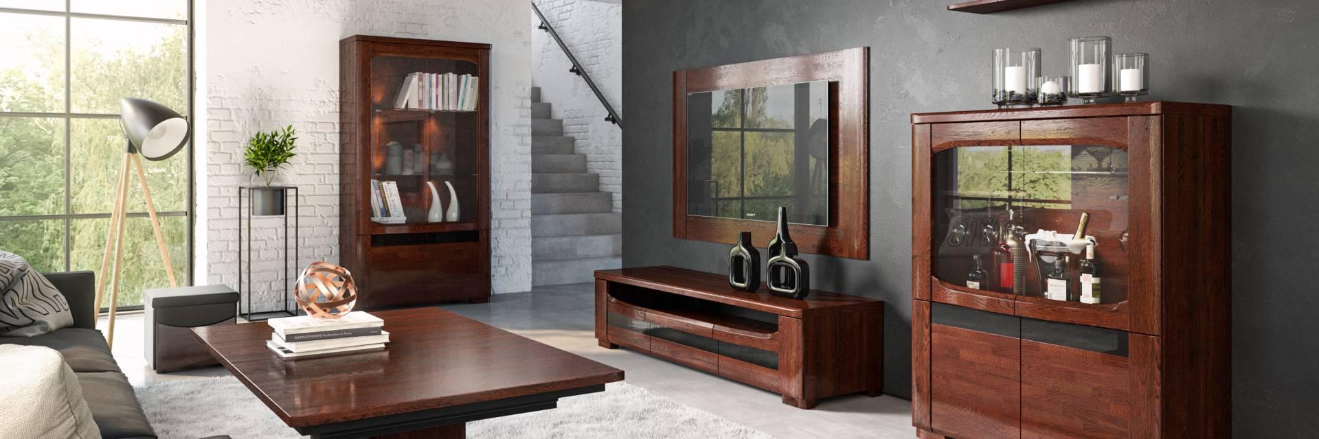 Kolekcja Mebli Riva z Litego Drewna do Sypialni