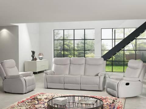 nowoczesny zestaw wypoczynkowy Bianco