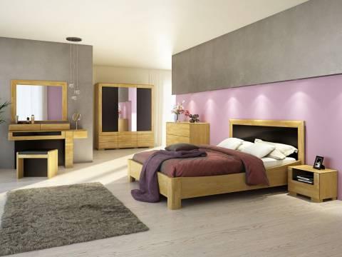Kolekcja Mebli Rossano do Sypialni z Litego Drewna Dębowego