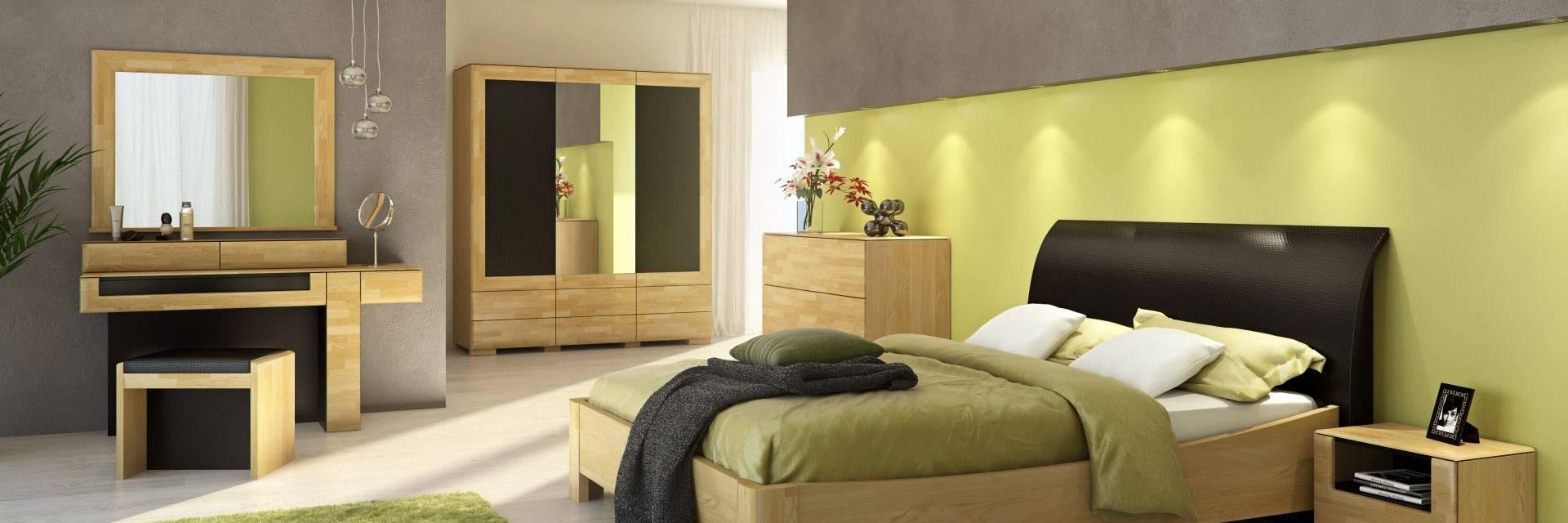 Meble do Sypialni Rossano z Litego Drewna Dębowego