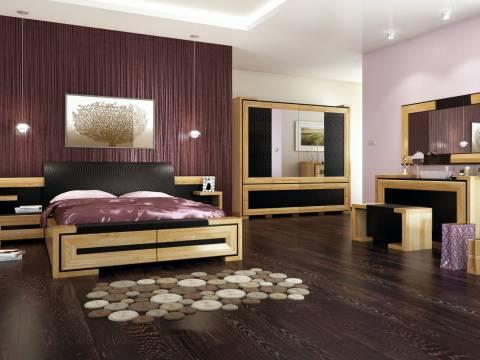 Kolekcja Mebli Sypialnianych z Drewna Dębowego Corino