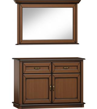 Štýlová zrkadlo L2D + komoda K2D2S - Meble Wanat
